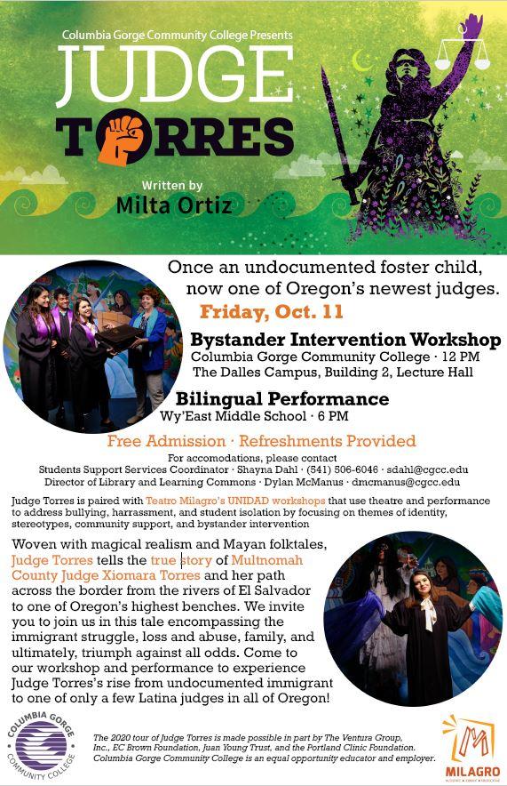 Flyer for October 11 Performance and Workshop